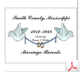 Smith County Marriage Records 1912-1951