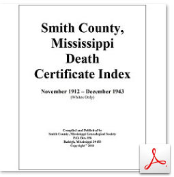 Smith County, MS Death Certificate Index